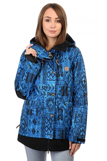 Куртка женская DC Riji Tribal, 1159190,  DC Shoes, цвет синий, черный