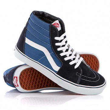 Кеды кроссовки высокие Vans Sk8-Hi Navy, 1063055,  Vans, цвет голубой, синий