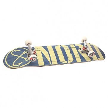 Скейтборд в сборе Nord Logo V.2 Beige/Blue 32 x 8 (20.3 см), 1153178,  Nord, цвет бежевый, синий