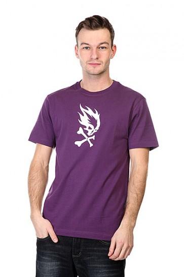 Футболка Pyromaniac Flame Skull  Purple, 1102738,  Pyromaniac, цвет фиолетовый