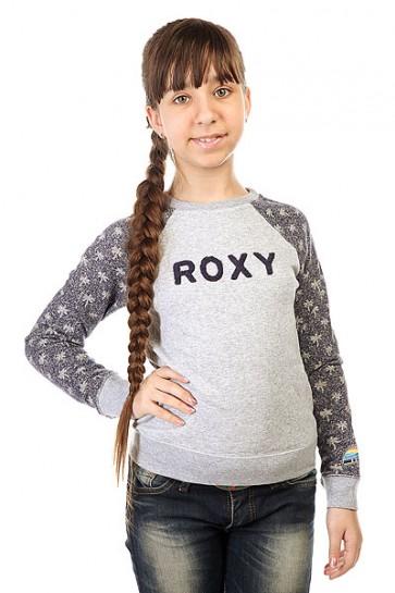 Толстовка классическая детская Roxy Wonderful Otlr Little Palm Combo Ec, 1143533,  Roxy, цвет серый, синий
