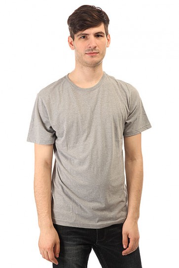 Футболка DC Basic Crew Tee Heather Grey, 1148630,  DC Shoes, цвет серый