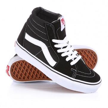 Кеды кроссовки высокие Vans Sk8-Hi Black/White, 1118596,  Vans, цвет белый, черный