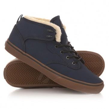 Кеды кроссовки утепленные Globe Motley Mid Fur Navy/Ash, 1150998,  Globe, цвет синий