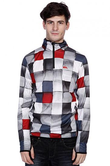 Толстовка сноубордическая Quiksilver Russia Micro Polar Shop Hz Redemption Charcoal, 1075011,  Quiksilver, цвет белый, красный, серый, черный