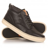 Кеды кроссовки высокие British Knights Wood Black/Dark Brown