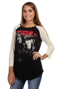 Лонгслив женский Insight Never Enough Raglan Black/Raw White