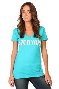 Футболка женская Zoo York Logo Block Bluebird