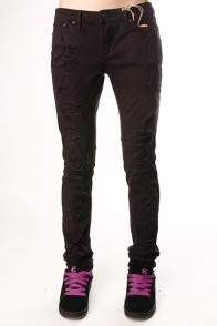 Джинсы узкие женские Insight Beanpole Skinny Stretch Ripped Caveman Black