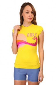 Гидрофутболка женская Roxy Crashing Yellow