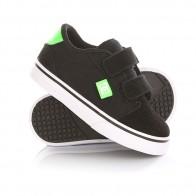 Кеды кроссовки низкие детские DC Anvil V Black/White/Green