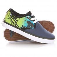 Кеды кроссовки низкие детские Quiksilver Shore Break Delux Blue/Green/White