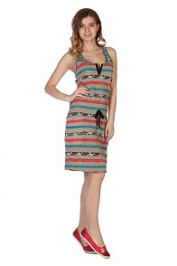 Платье женское Stussy Paint Stripe Tank Dress Taupe