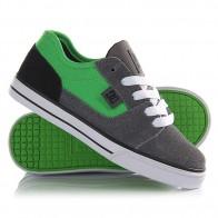 Кеды кроссовки низкие детские DC Tonik Tod Grey/Black/Green