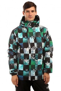 Куртка утепленная Quiksilver Mission Print Chakalapaki Bluefish