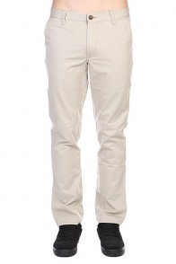 Штаны прямые Quiksilver Everyday Chino Ndpt Plaza Plaza Taupe