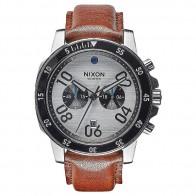Кварцевые часы Nixon Ranger Chrono Leather Silver/Saddle