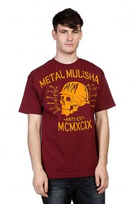 Футболка Metal Mulisha Black Head Burgundy