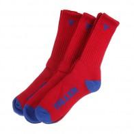 Комплект носков из 3 пар Fallen Trademark Sock Red/Blue