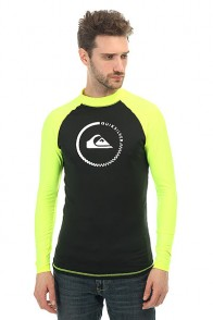 Гидрофутболка Quiksilver Lock Up Longs Black/Safety Yellow