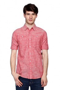 Рубашка Analog Rochester 3/4 Sleeve Red Chambray
