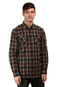 Рубашка в клетку Nixon Acre Shirt Walnut