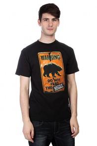 Футболка Grizzly Do Not Feed The Bears Tee Black