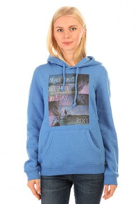 Толстовка кенгуру женская Roxy Hoodie Ru Palace Blue