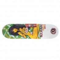 Дека для скейтборда для скейтборда Foundation Su5 Merlino Strip Poker Green/Grey 32.25 x 8.25 (21 см)