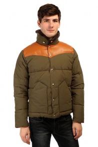 Пуховик Penfield Rockwool Leather Yoke Down Jacke Lichen