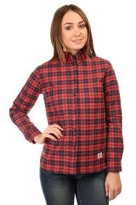 Рубашка утепленная женская Penfield Kemsey Quilted Plaid Long Sleeve Shirt Red