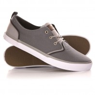 Кеды кроссовки низкие Quiksilver Griffin Canvas Shoe Grey/White