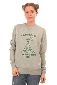 Толстовка свитшот женская Penfield Camping Club Crew Sweat Grey