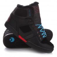 Кеды кроссовки утепленные Osiris Nyc Shr Black/Red/Blue