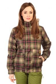 Куртка утепленная женская Burton Wb Tabloid Jk Olive Radiant Plaid