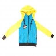 Толстовка классическая детская Shweyka Exception Zip Blue/Yellow