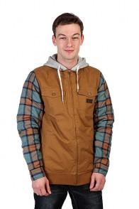 Куртка Analog Mandate Flzp Leather Brown