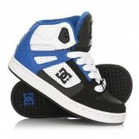 Кеды кроссовки высокие детские DC Rebound Black/White/Blue