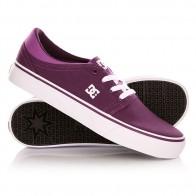 Кеды кроссовки низкие женские DC Trase Tx Shoe Purple Wine