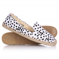 Эспадрильи женские Soludos Smoking Slipper Print & Pattern Black/White