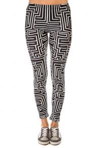 Леггинсы женские Look The Maze Black/White