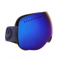 Маска для сноуборда Dragon Apx Carbon/Dksmoke Blue + Yellow Blue Ion