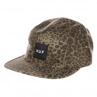 Бейсболка пятипанелька Huf Hell Shock Camo Volley Olive Shell Shock