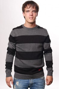 Свитер Fallen Cole Signature Striped Sweater Black/Charcoal