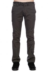 Штаны прямые Zoo York Baxter Chino Charcoal