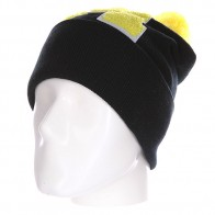 Шапка Truespin Abc Pompom Beanie Black/Yellow M