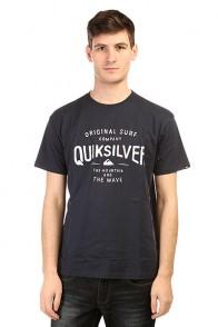 Футболка Quiksilver Clastegeeclaiit Tees Navy Blazer