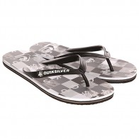 Вьетнамки Quiksilver  Molokai Check R M Sndl Black/Grey/White