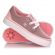 Кеды кроссовки низкие детские DC Trase Tod Tx Se G Shoe Pink/White