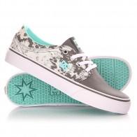 Кеды кроссовки низкие женские DC Trase Tx Se J Shoe Grey/Black/White